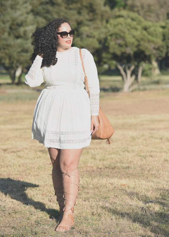Tanesha Awasthi in wide calf gladiators