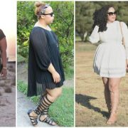Plus size Bloggers in Wide Calf Gladiators on The Curvy Fashionista