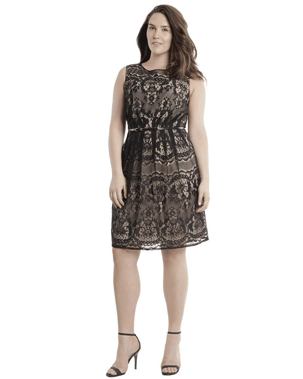Adrianna Papell Plus Size Romantic Lace Dress