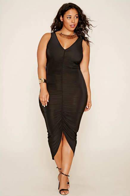 Plus Size Plunging Maxi Dress at Forever21.com