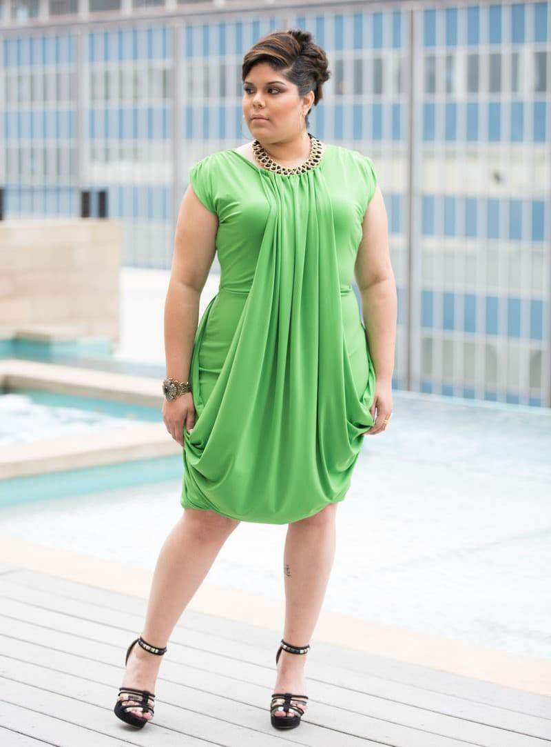 The Bella Green Dress available at Shavonne Dorsey