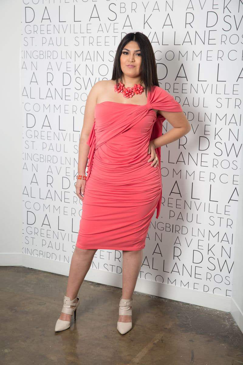 The Mina Coral Dress available at Shavonne Dorsey