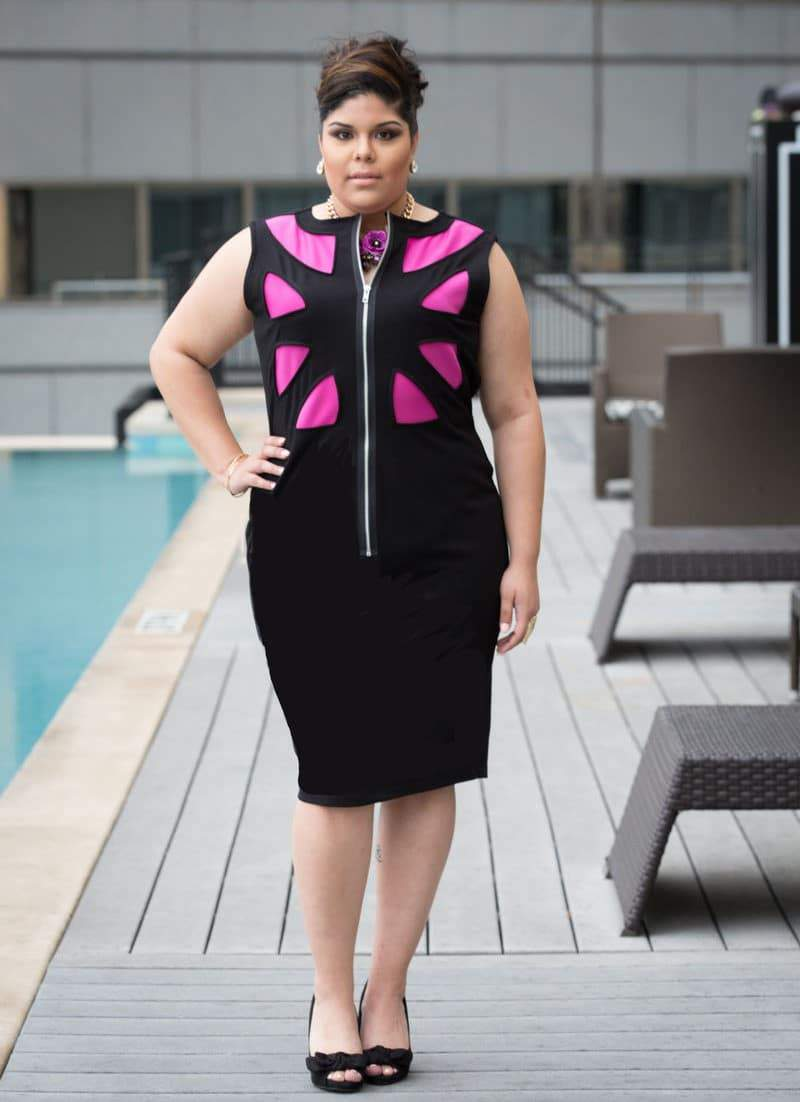 The Pink/ Black Bree Plus Size Dress available at Shavonne Dorsey