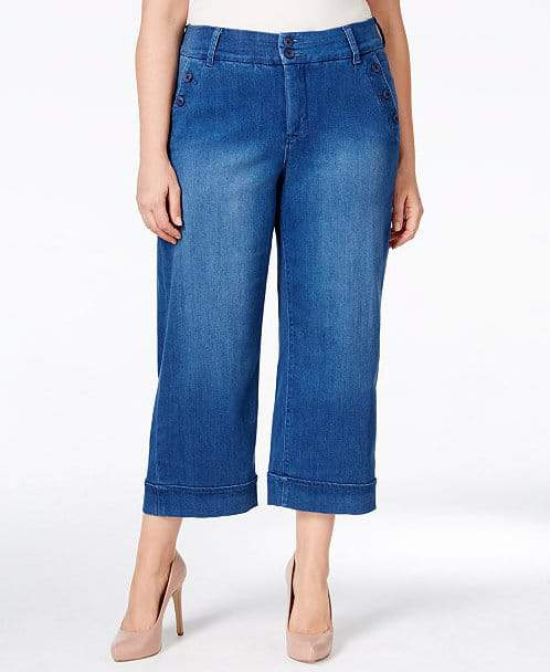 The Cropped Wide-Leg Jeans by Melissa McCarthy