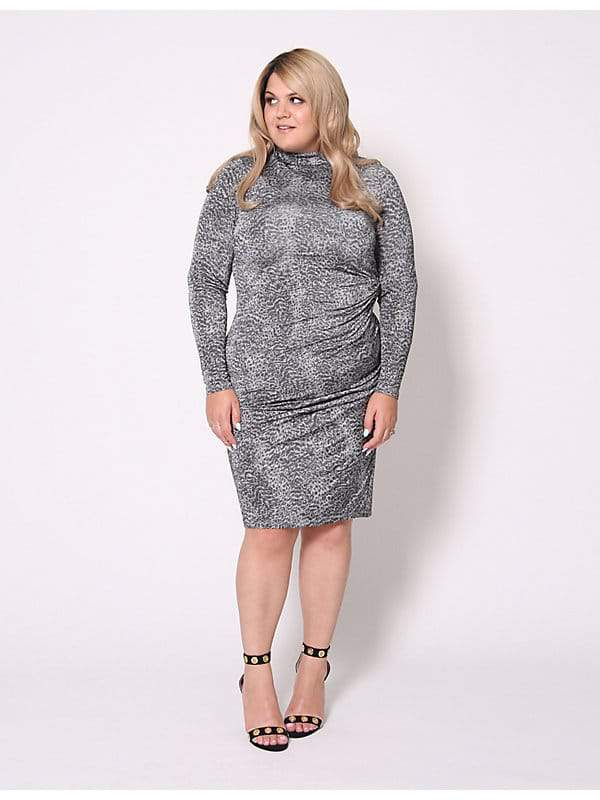 Christian Siriano for Lane Bryant Animal Print Midi