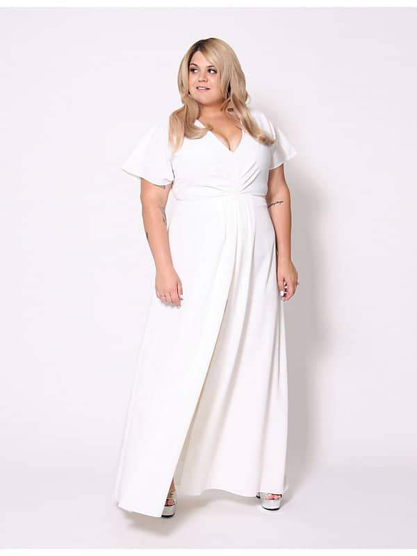 Christian Siriano for Lane Bryant Split front maxi