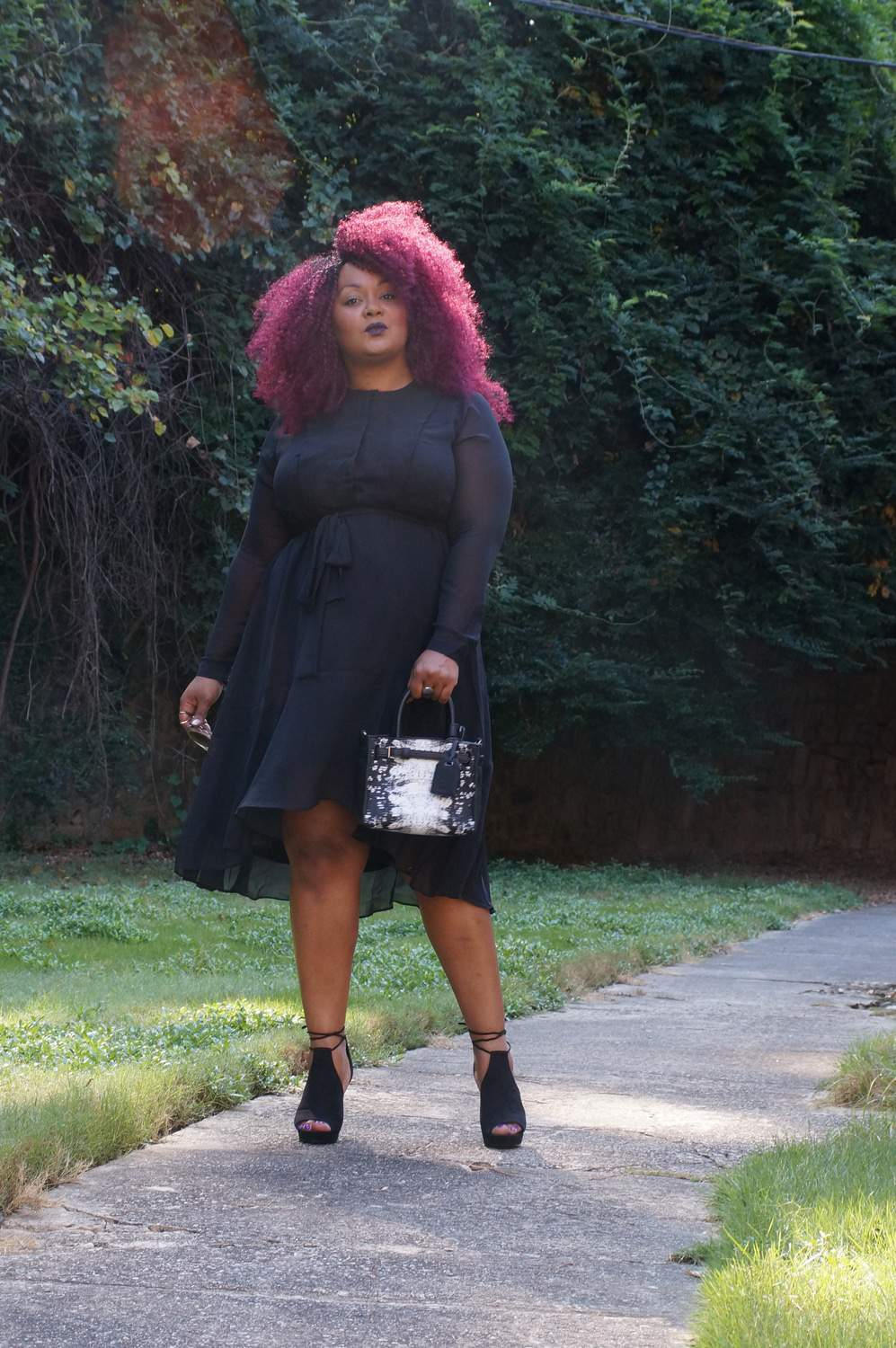 Marie Denee The Curvy Fashionista in Simply Vera Vera Wang from Kohls