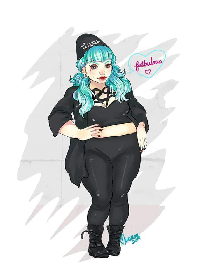 Plus Size Art- Munrou Illustrations