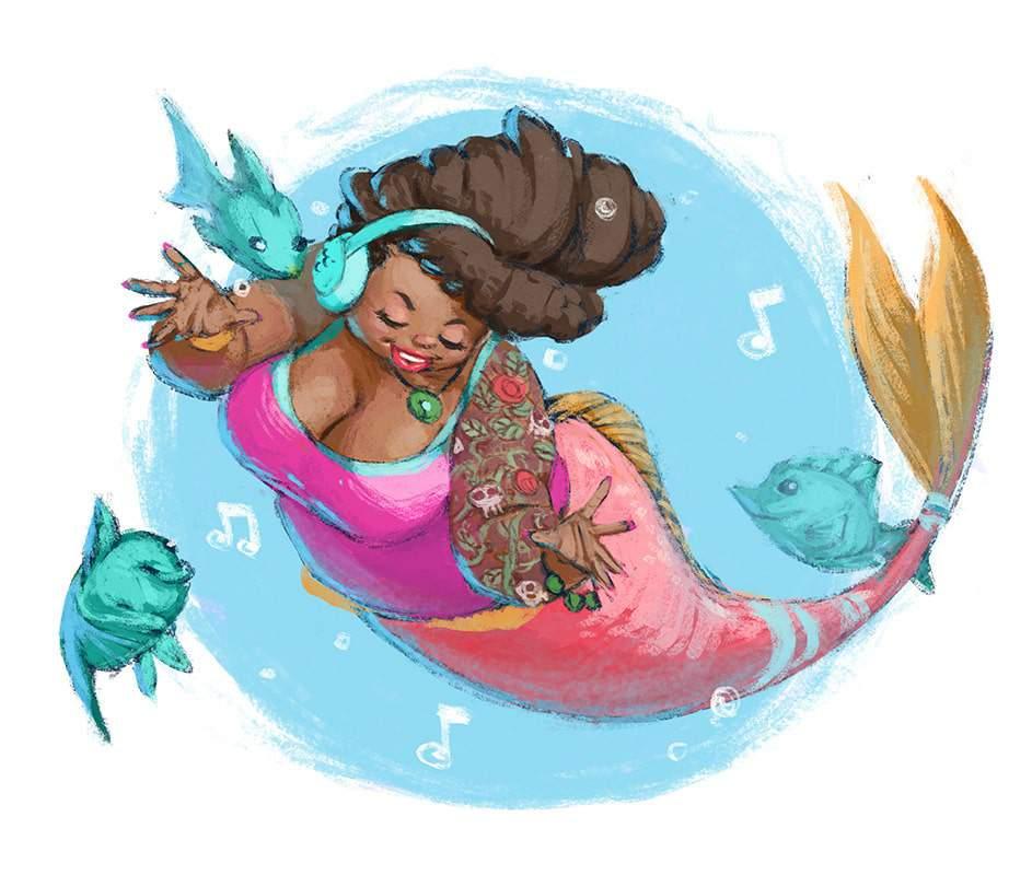 Plus Size Art Spotlight: Mermaids And Fairies With BlakeInobi