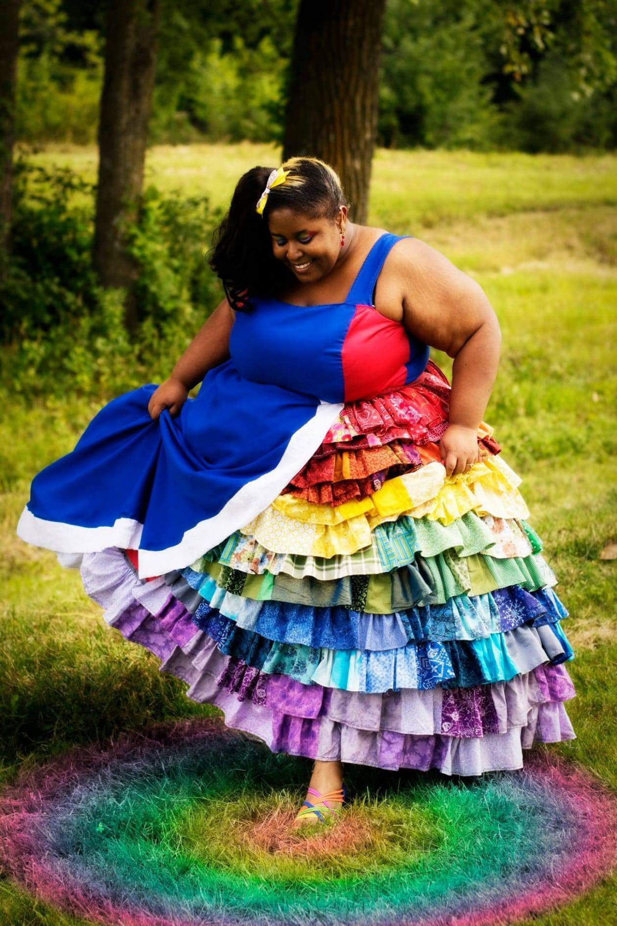 plus size rainbow brite costume