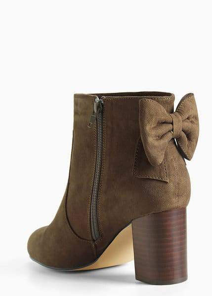 Bow Back Heel Booties at torrid