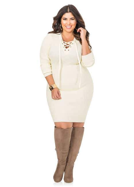 18 Top Picks For Plus Size Sweater Dresses!