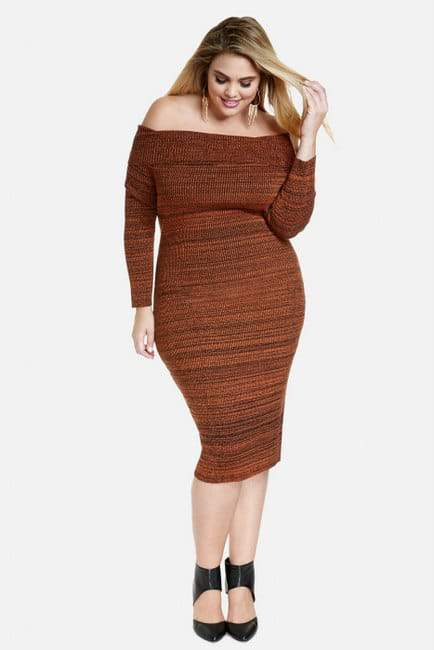 Marbled Marilyn Plus Size Sweater Dress