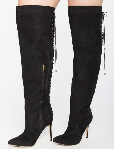 Over The Knee Wide Calf Lace Up Boot at eloquii