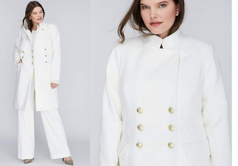 Gotta Have It: Chic in Winter White this Lane Bryant Long Coat