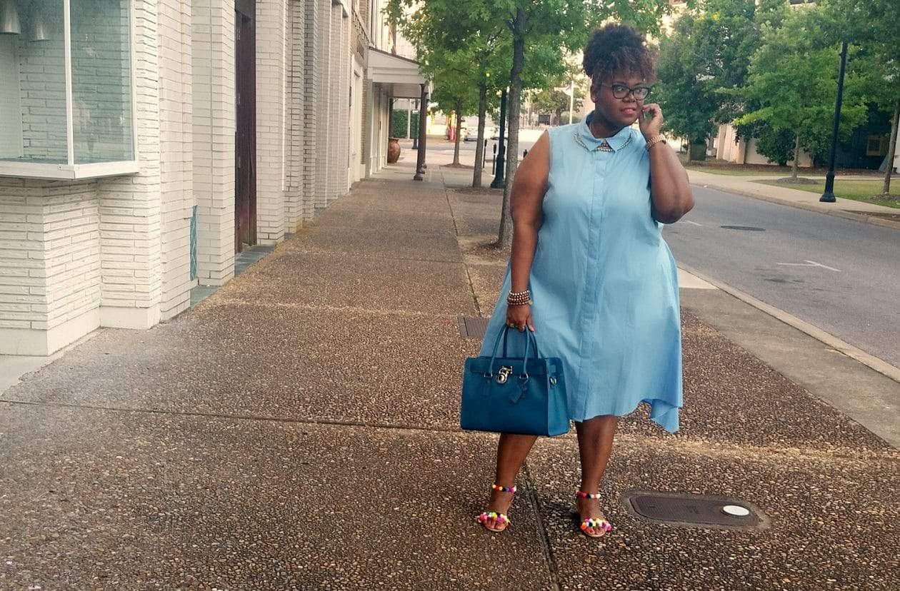 Plus size blogger spotlight on Pretty Plus Pep