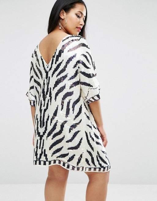 Sequins Dress- Zebra V ASOSCurve