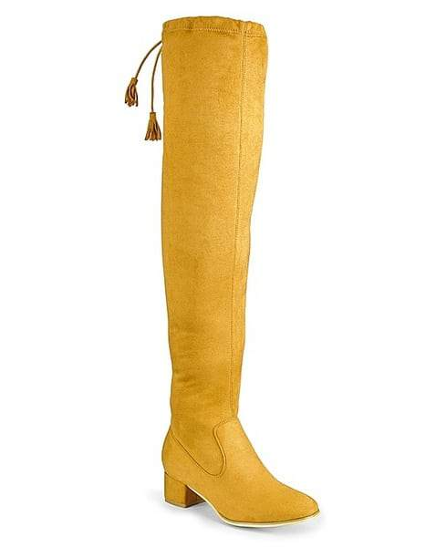 Sole Diva Over The Knee Wide Calf Boots at Simply Be