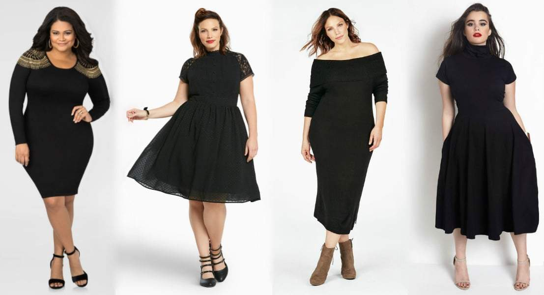 13 Plus Size Little Black Dresses Must Have Under $100.00!