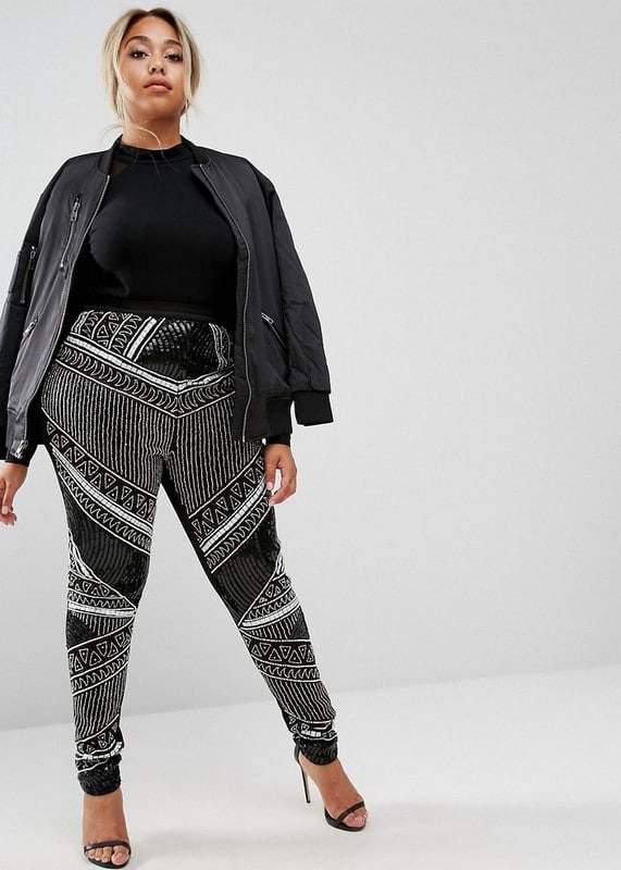Lovedrobe Luxe Embellished Plus Size Leggings