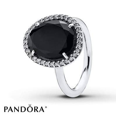 PANDORA Ring Black Spinel Sterling Silver