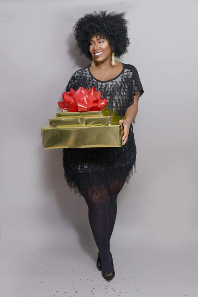 Blogger Kelly Augustine Fashions her Own Holiday Lookbook