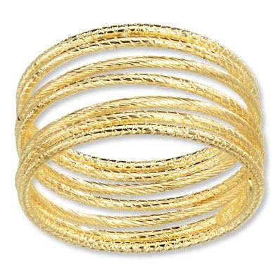 Stacked Spiral Ring 14K Yellow Gold