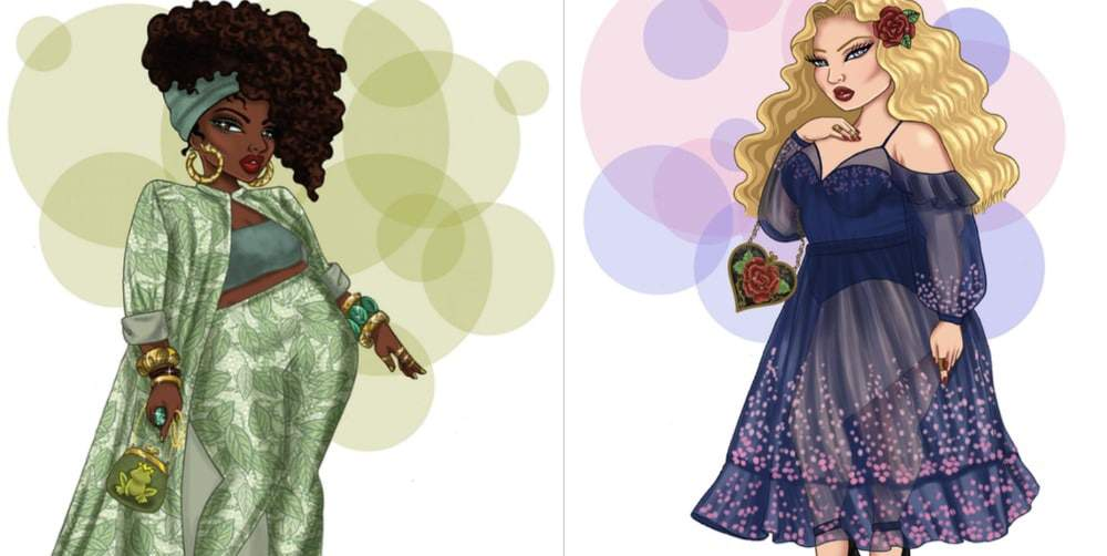 Plus size Disney Princesses by Jonquel Art