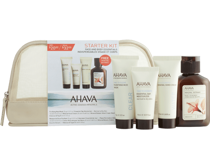 My 10 Holiday Travel Must Haves- 5-PIECE AHAVA STARTER KIT