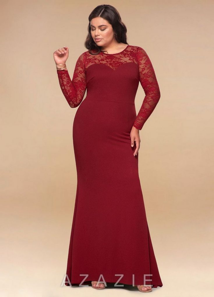 Americano Wine Red Maxi Dress