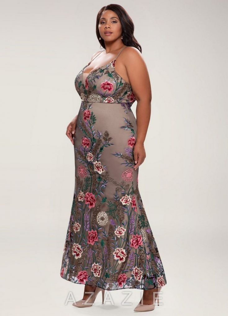 Charming Black Embroidery Maxi Dress
