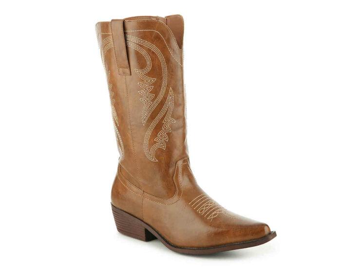 Dusty Wide Calf Cowboy Boot
