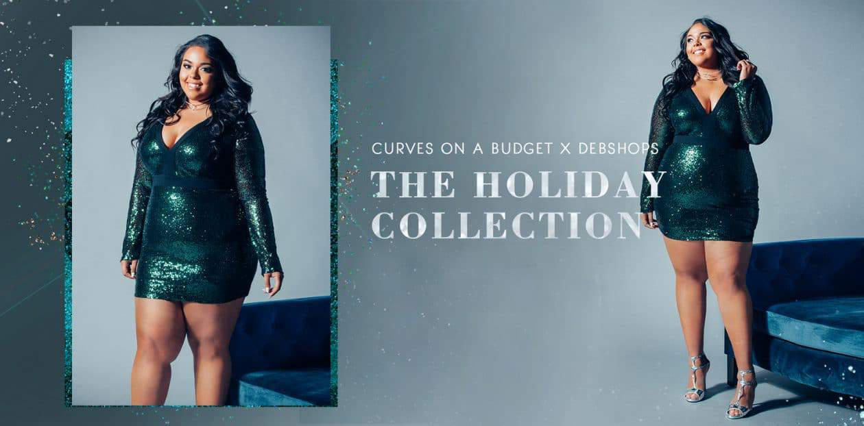 First Look at the DebShops X Curves on A Budget Holiday Collection