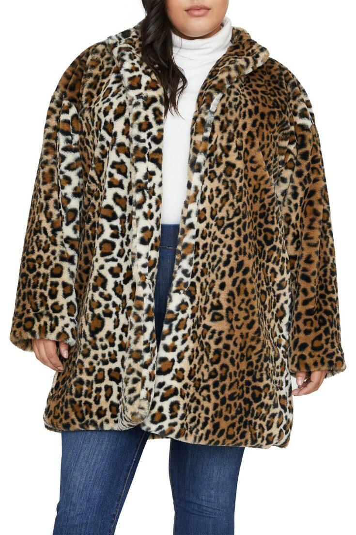 Sanctuary Leopard Print Faux Fur Jacket