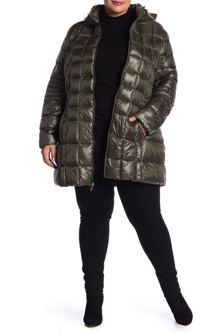 French Connection Quilted Hooded Jacket