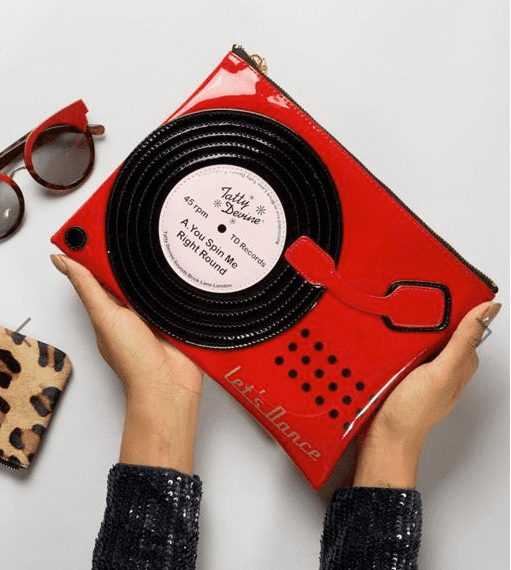 Tatty Devine Record Player Pouch