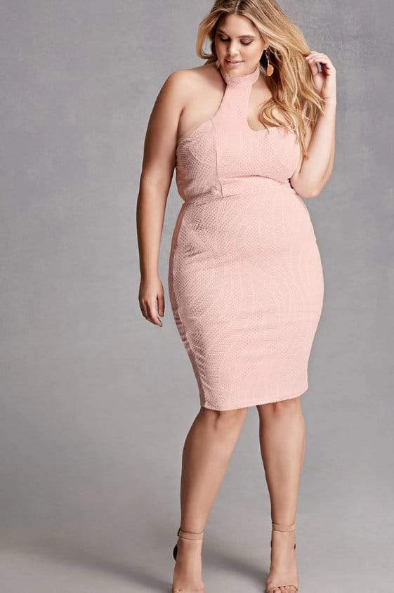 Plus Size Mock Neck Bodycon Dress at Forever21