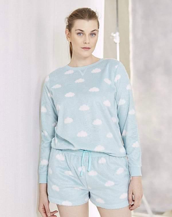 Simply Be Plus Size Pretty Secrets Pajama Set