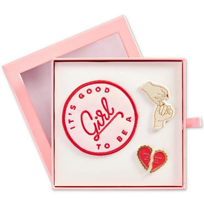 Valentine's Day Gift Guide 2017- Enamel Pin and Patch Flair Pack from Ban. Do