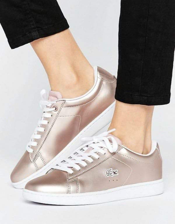 Rose Gold Sneakers- Lacoste Carnaby Evo Rose Gold Sneakers