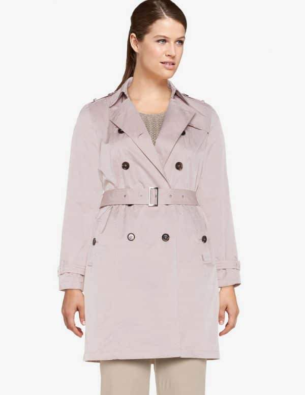 Cotton Blend Trench Coat by White Label Rofa Fashion
