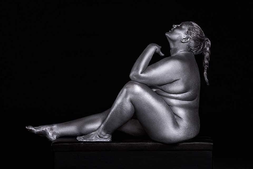 Plus Size Art: Metallic Curves by Photographer Silvana Denker