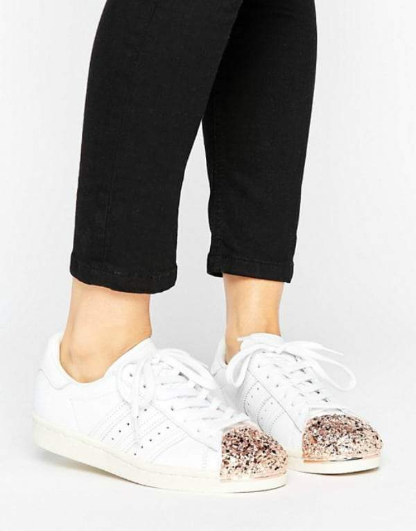 Currently Obsessed With Rose Gold Sneakers
