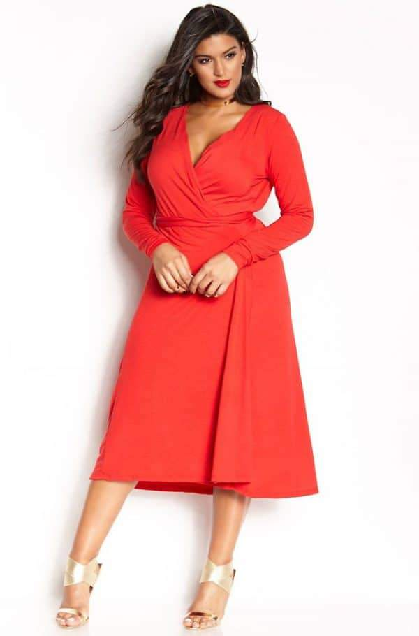 12 Uber Chic Plus Size Wrap Dress You Need In Your Closet | The ...