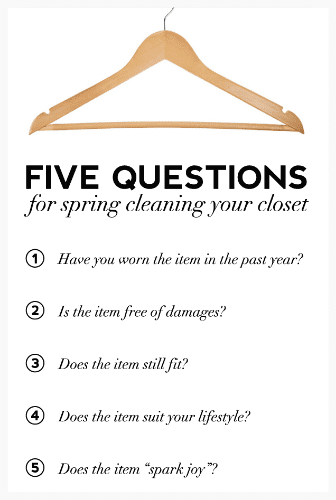7 spring cleaning fashion tips to declutter your closet!