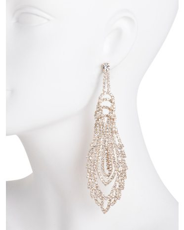 ABS Gold Long Chandelier Earrings 2