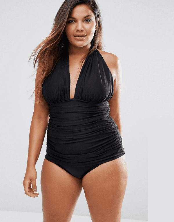 6dcac19ff0696 10 One-Piece Swimsuits That'll Have You Poolside Pretty! ASOS CURVE Ruched  ...