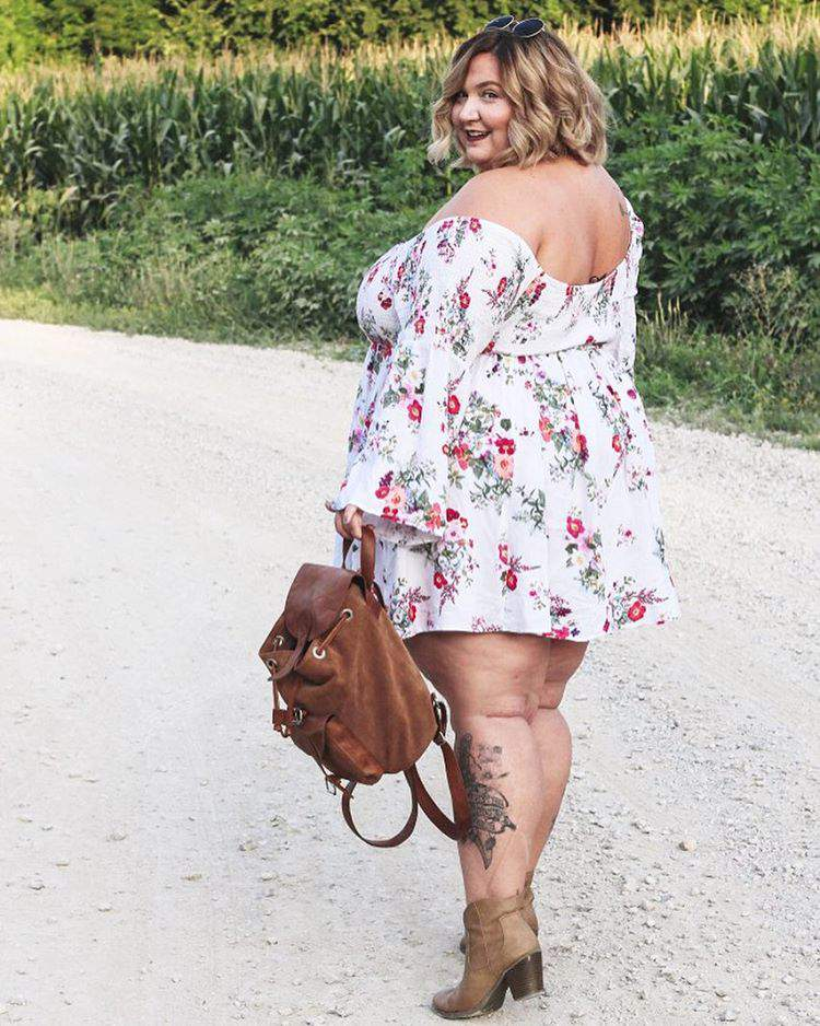 Plus size blogger spotlight on Fat Girl Flow