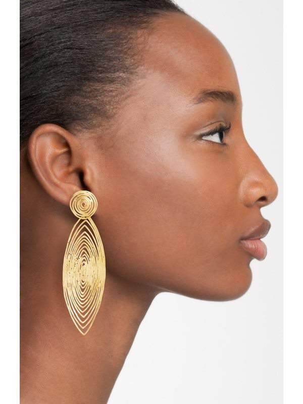 Gas Bijoux 'Long Wave' Drop Earrings