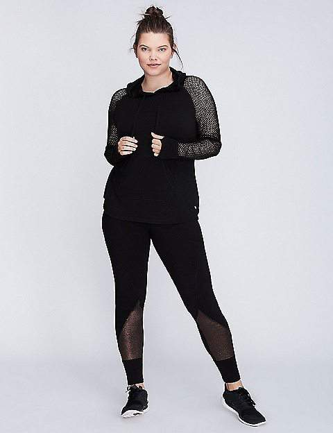 7 Affordable Workout Pieces for Instant Glam at the Gym! Lane Bryant Mesh-sleeve Active Hoodie
